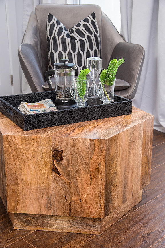 Seating Area Wood Table