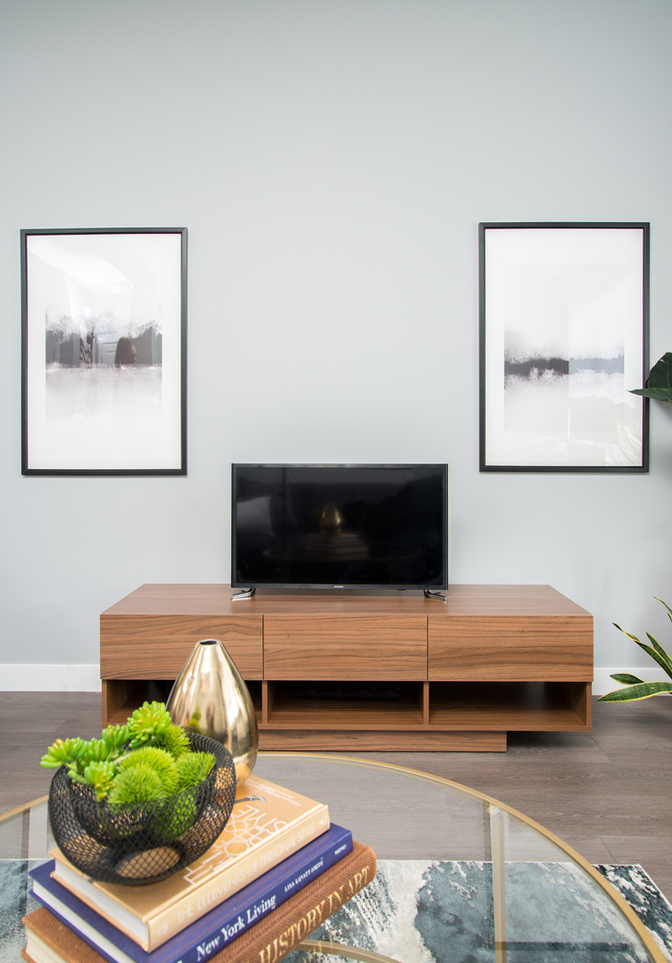TV Stand & Wall Art