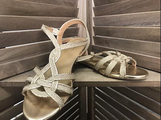 Sandales dorées 37