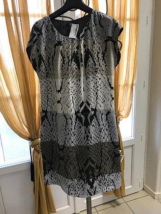 Robe imprimé noir marron T 36 Mexx