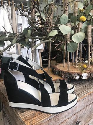 Sandales compensées noires 36