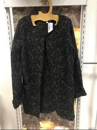Manteau noir imprimé kaki T 38