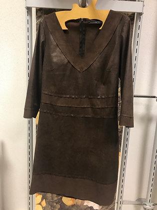 Robe marron T 38