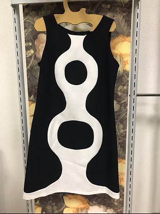 Robe noir blanc T 38 Hippocampe