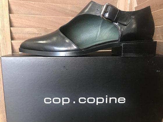Sandales noires cuir T39