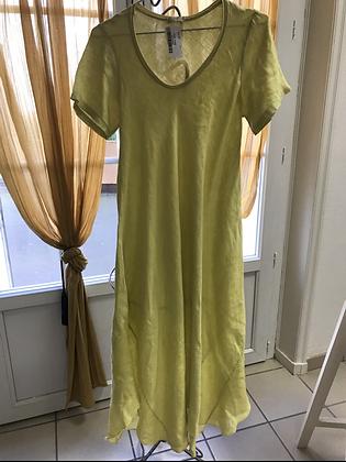 Robe longue jaune T 38