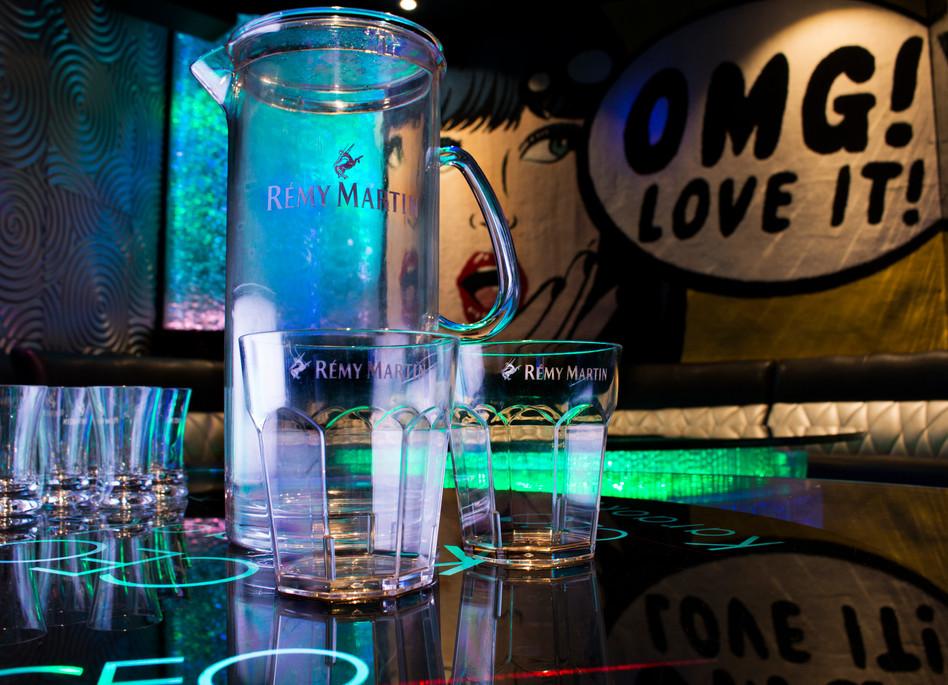 Custom made RÉMY MARTIN glassware and jug