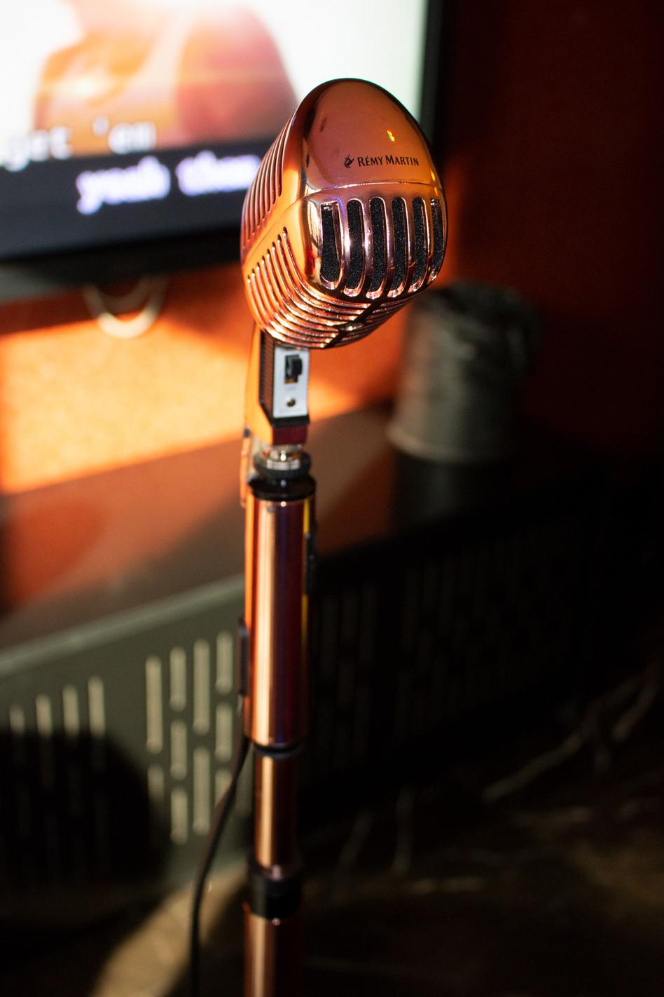 Custom RÉMY MARTIN copper microphone