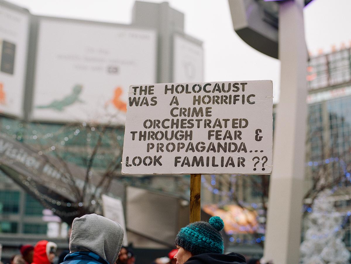 Dundas Square, Dec. 12, 2020.