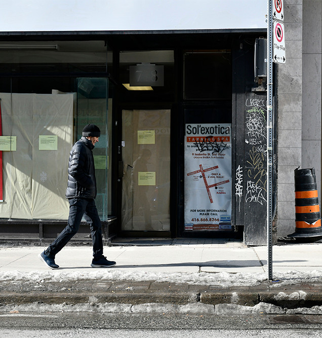 Yonge Street, Toronto, ON. February 2020.