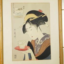 Ukiyoe tea geisha