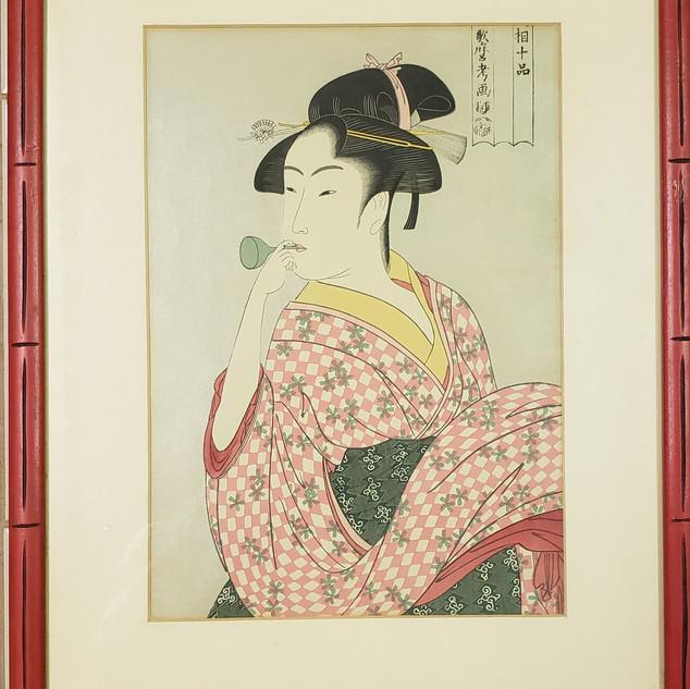 Ukiyoe bubble geisha