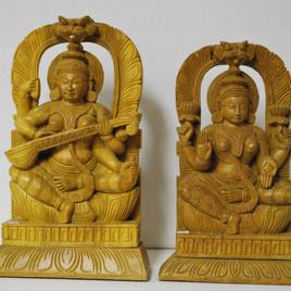 Sarasvati & Lakshmi