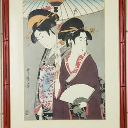 Ukiyoe fan geishas