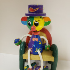 Clown on bench