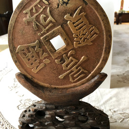 Chinese symbols coin