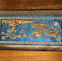 Dragons on blue