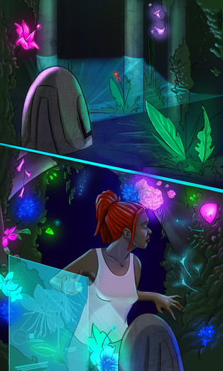 NOVO- a 74 page, digital graphic novel created for Social Studies course -  Color by Cheryl Juracich. Copyright 2015-StrongMind Digital Learning