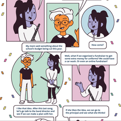 Info-comic for Social Emotional Learning Course