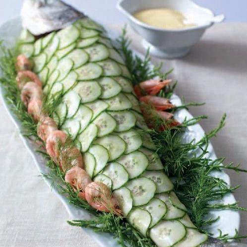 Poached Salmon, Classic Decoration
