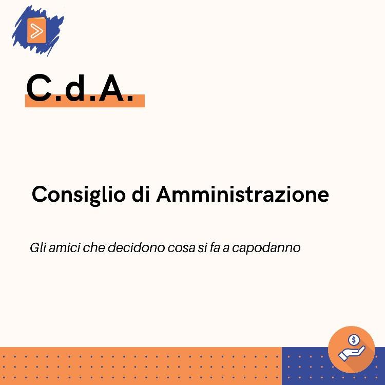 Infografica circa il significato di CDA.