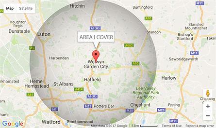 Where Nicola Sanders covers in hertfordshire