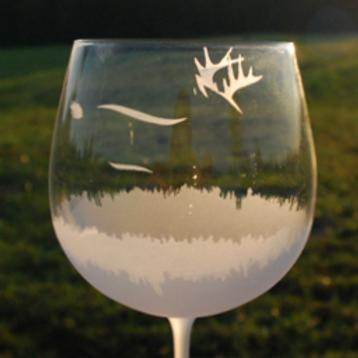 Deer Wine Glass