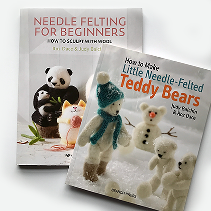 Needle Felting for Beginners book plus How to Needle felt Little Teddy Bears