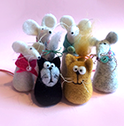 Simple needle felted animals