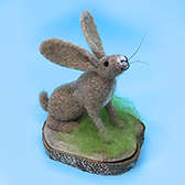 Needle felted hare workshop