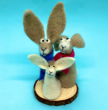Happy Hares needle felting kit, the ideal kit for beginners