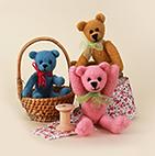 Needle felted teddy bears