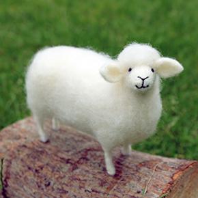 Romney Sheep Needle Felting Kit