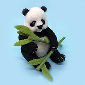Needle felted panda workshop