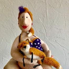 Needle felted doll needle felted fox