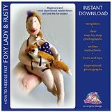 Downloadable PDF doll pattern