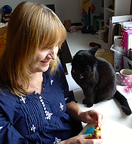 Roz Dace author, commissioning editor, needle felter
