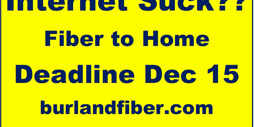 Burland Fiber Presentation - more info on Fiber in Burland