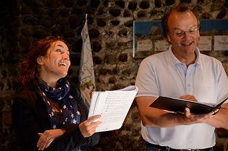 La soprano Julie Calbète et le contreténor Jean-Yves Guerry