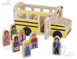 Wooden School Bus Set