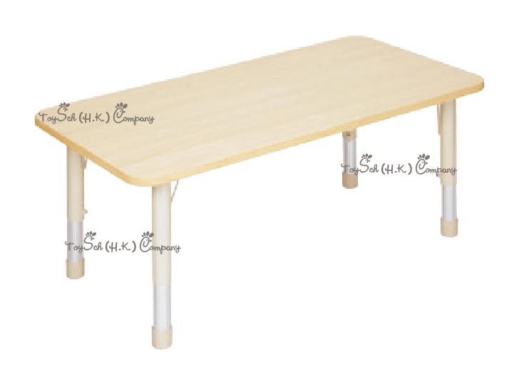 兒童6人桌子-可調高度