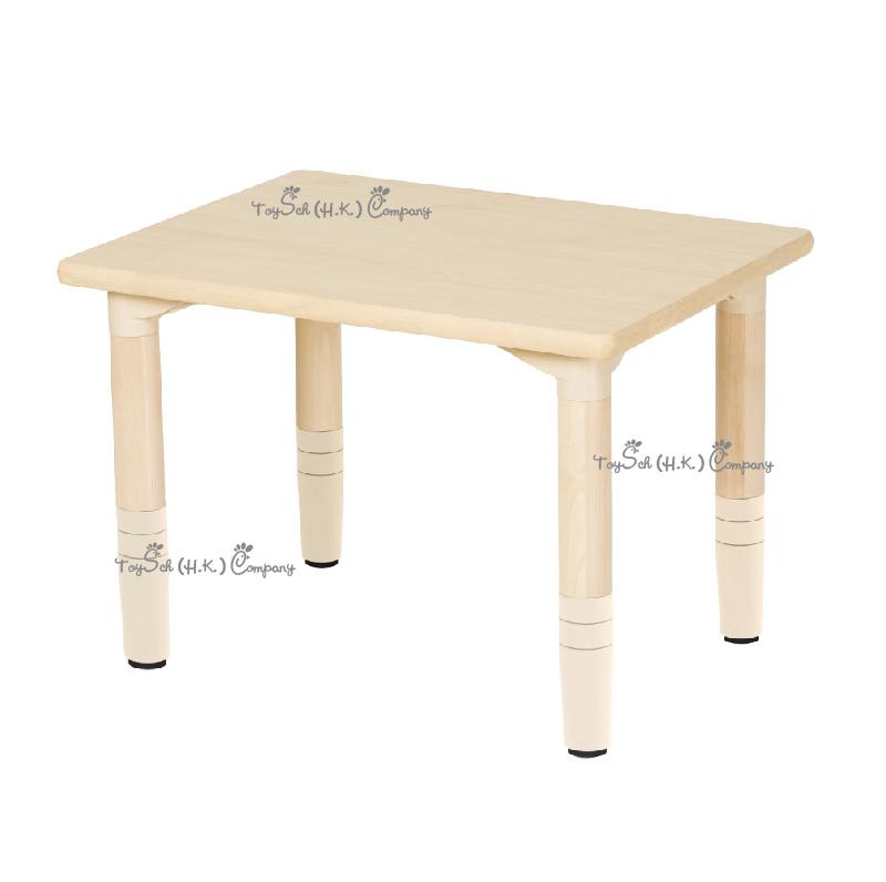 兒童實木 4人桌子-可調高度