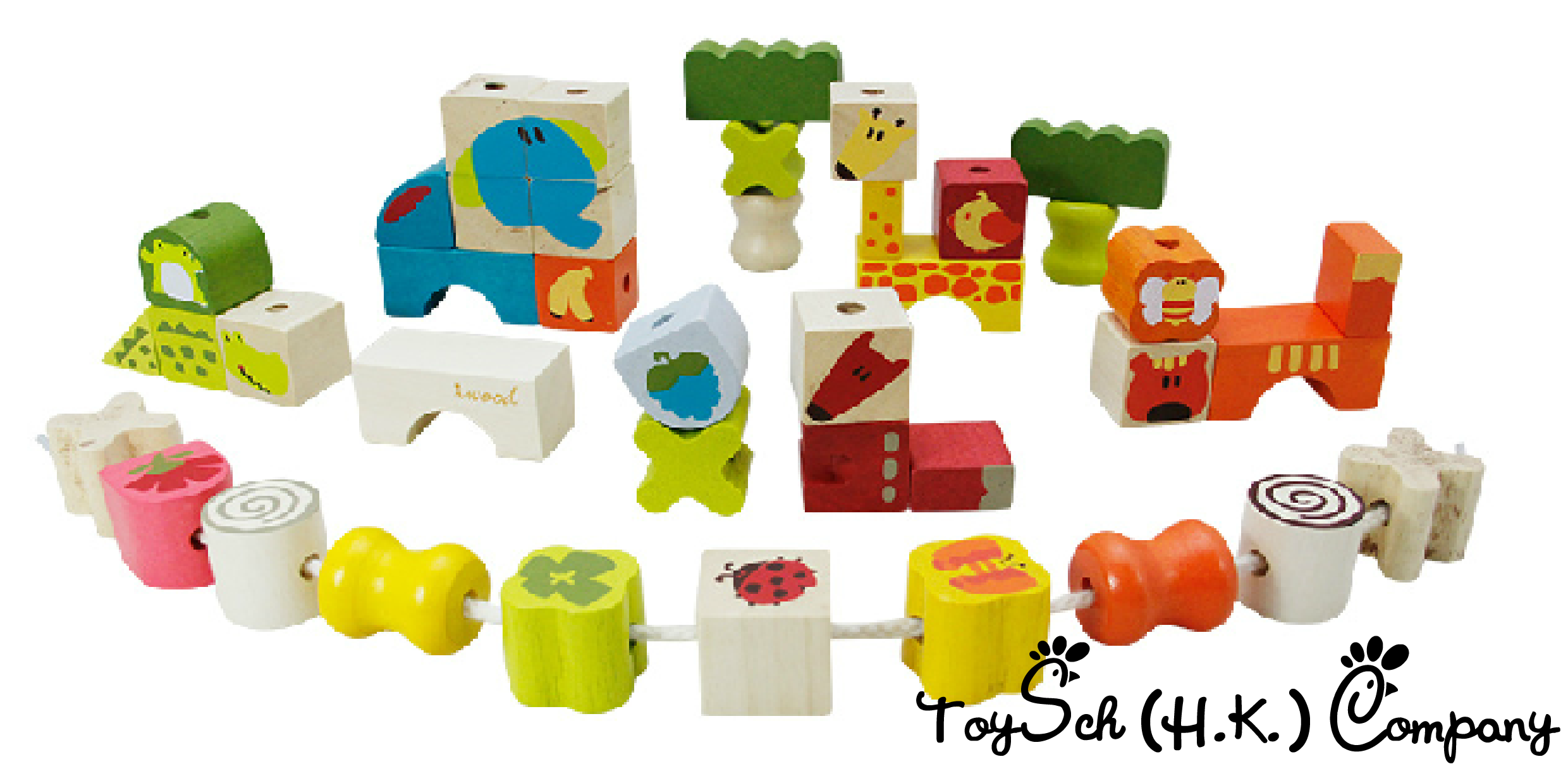 Blocks with rope