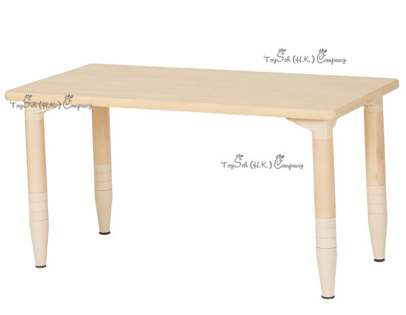兒童實木6人桌子-可調高度