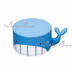 鯨魚圓梳化凳