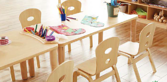 On sales: Wooden toys, furnitures, teaching materials, big wooden blocks, wooden tables and chairs