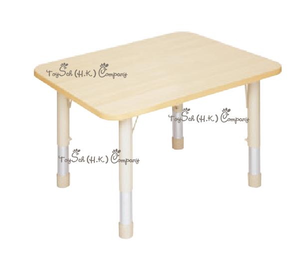 兒童 4人桌子-可調高度
