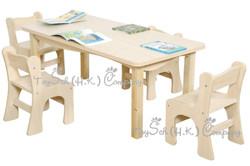 兒童長方形桌子-6人