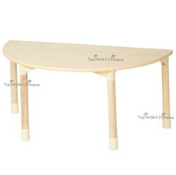 兒童實木半圓桌子
