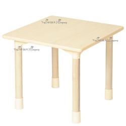 兒童實木正方形桌子